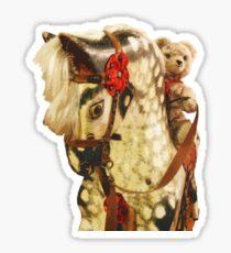 Nursery Toys: Teddy Bear Rides Rocking Horse Sticker