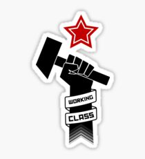 Raised Fist of Protest - Working Class Sticker