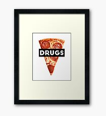 Drugs = Pizza Framed Print