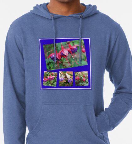 Tanzen Fuchsia Belles - Sommer-Blumen-Collage Leichter Hoodie