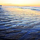 Water Patterns at Sunrise low tide...adorned with seashells by Poete100