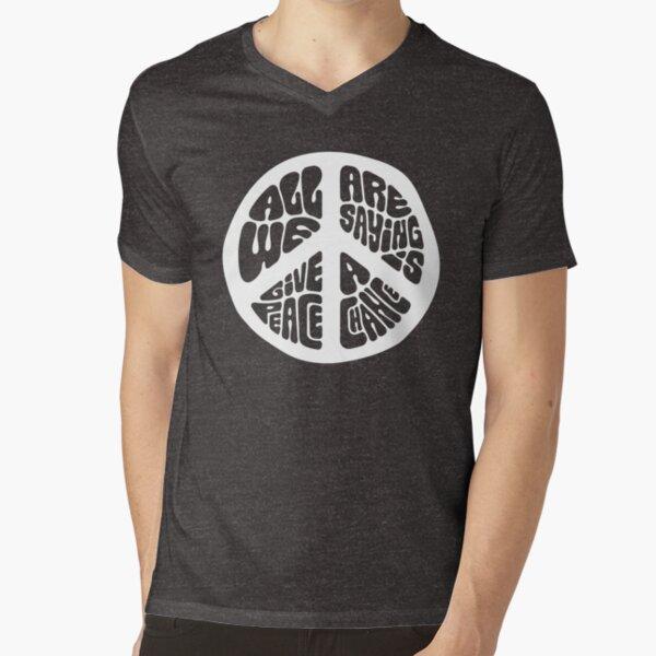 Peace V-Neck T-Shirt