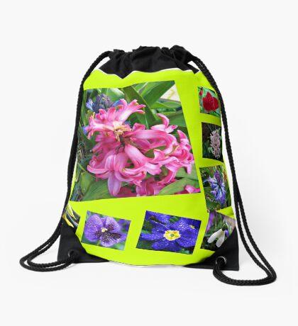 Verrückter Frühling Blumen Collage Turnbeutel