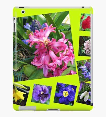 Verrückter Frühling Blumen Collage iPad-Hülle & Klebefolie
