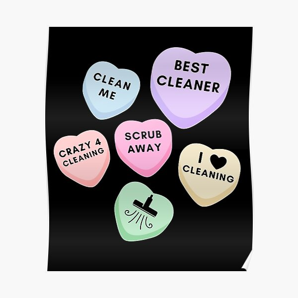 Cleaning Valentine Candy Appreciation Gift Housekeeping Poster