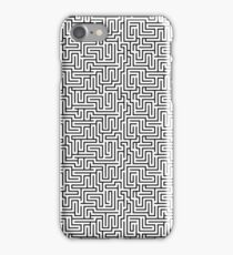 Maze Print - Black and White iPhone Case/Skin
