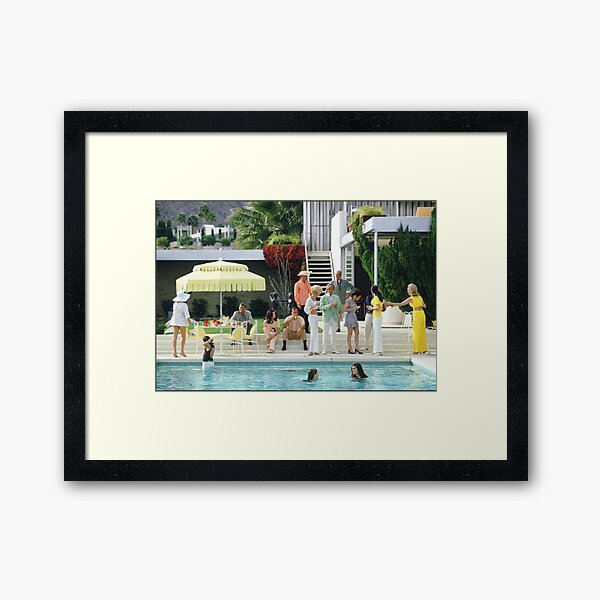 party at the pool Framed Art Print