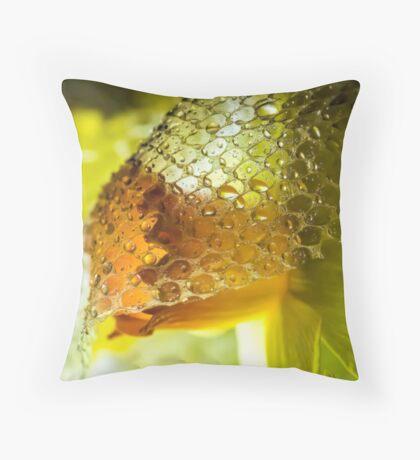 The Demure Daffodil Throw Pillow
