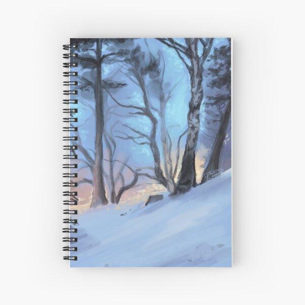 Winter Wonderland Birch Forest Spiral Notebook