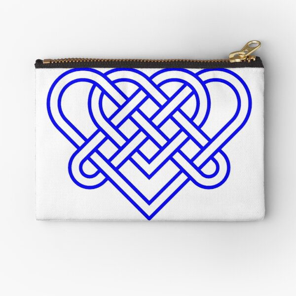 Heart Celtic Knot Zipper Pouch