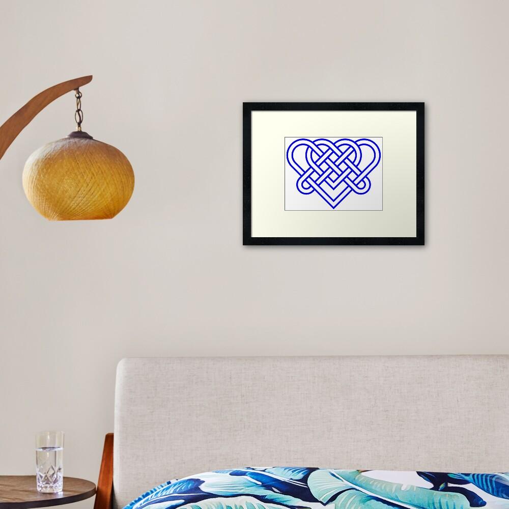 Heart Celtic Knot Framed Art Print