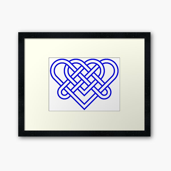 Heart Celtic Knot Framed Art Print