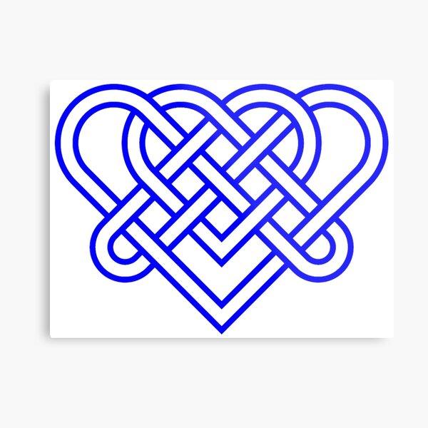 Heart Celtic Knot Metal Print