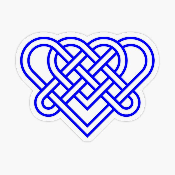 Heart Celtic Knot Transparent Sticker