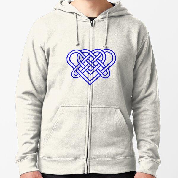 Heart Celtic Knot Zipped Hoodie