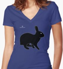 Sly Rabbit Silhouette Women's Fitted V-Neck T-Shirt