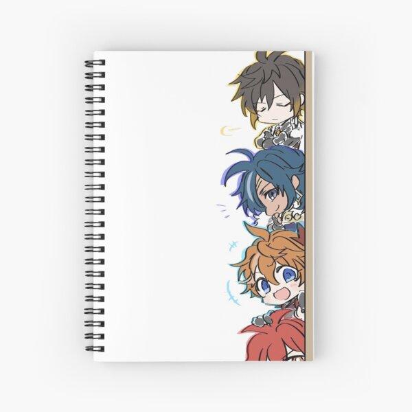 Genshin Impact Chibi Peeker Boy Band Spiral Notebook