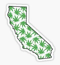 California (CA) Weed Leaf Pattern Sticker