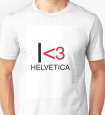 I <3 helvetica love type graphic design T-Shirt