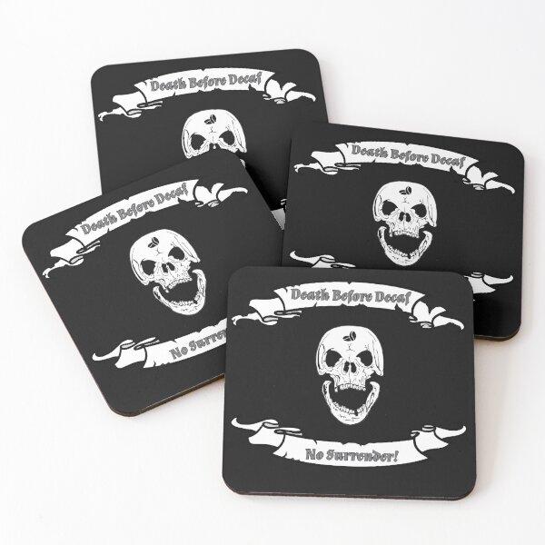Death Before Decaf No Surrender!  Coasters (Set of 4)