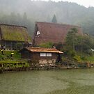 Hida Village , Takayama, in the rain. by johnrf