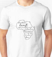 """She sets her heart""- Africa Unisex T-Shirt"