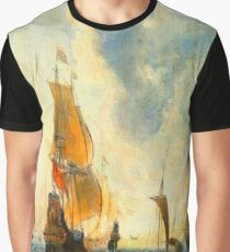 Old Dutch Sailing Ships Graphic T-Shirt