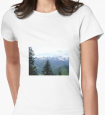 swiss alps Women's Fitted T-Shirt