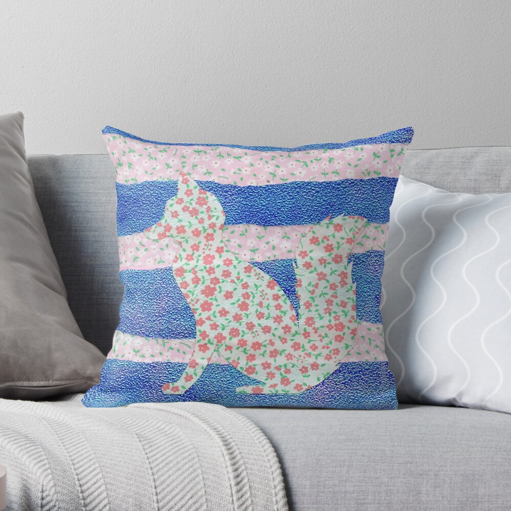 Fox in the Clover Throw Pillow