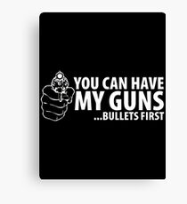 bullet first Canvas Print