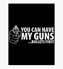 bullet first Photographic Print