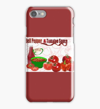 Bell Pepper & Tomato Sauce (4422 Views) iPhone Case/Skin