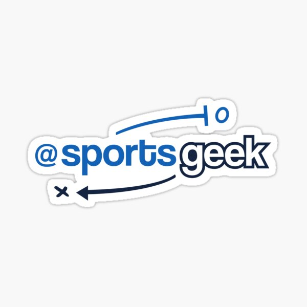 Sports Geek Playbook - Blue/Black Sticker