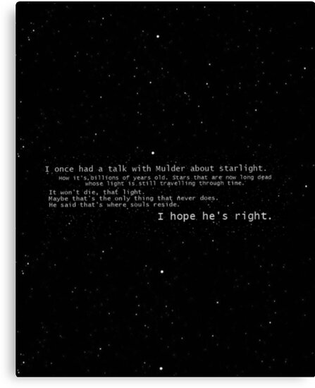 I once had a talk with mulder about starlight... by amazingsk47