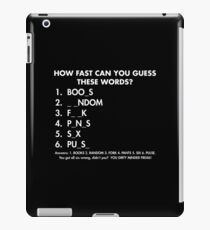 guess words iPad Case/Skin