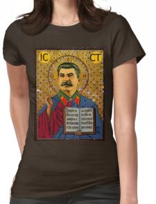Stalin like GOD Womens Fitted T-Shirt