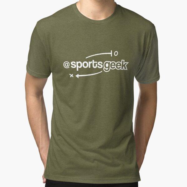 Sports Geek Playbook - White Tri-blend T-Shirt