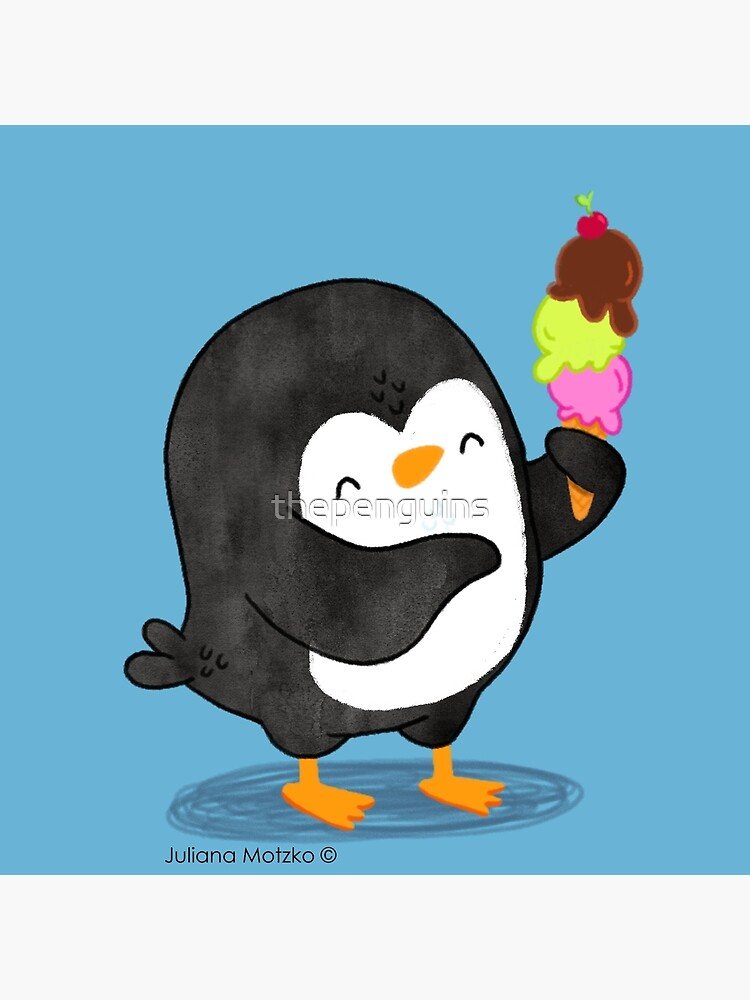 Happy Penguin with Ice Cream by thepenguins