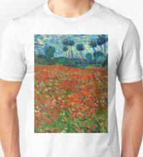 1890-Vincent van Gogh-Poppy field-82,7x102 Slim Fit T-Shirt