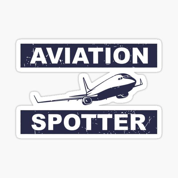 Aviation Spotter 737-blau Sticker