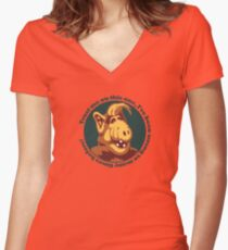 Alf Guru Women's Fitted V-Neck T-Shirt