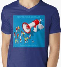 Social Promotion Concept Isometric T-Shirt