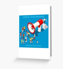 Social Promotion Concept Isometric Greeting Card