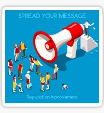 Social Promotion Concept Isometric Sticker