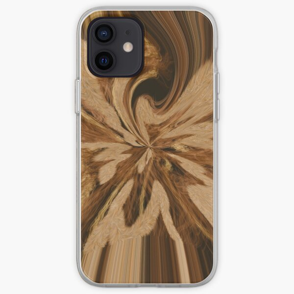 Wood effect abstract  iPhone Soft Case