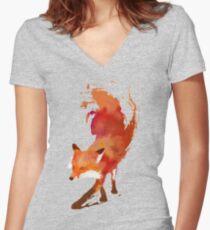 Vulpes Vulpes Women's Fitted V-Neck T-Shirt