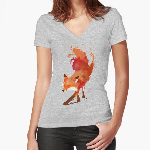 Vulpes Vulpes Camiseta entallada de cuello en V