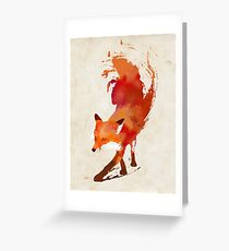 Vulpes Vulpes Greeting Card