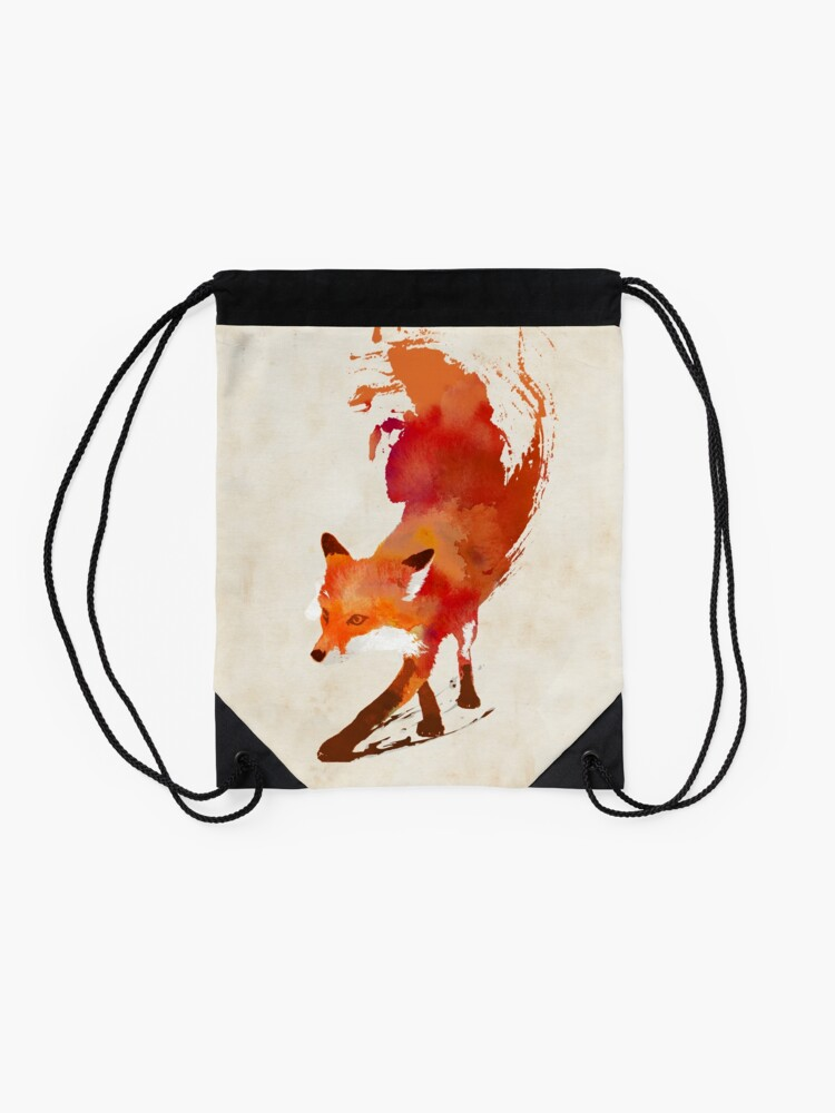 Alternate view of Vulpes Vulpes Drawstring Bag