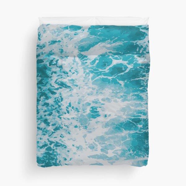 Ocean blue waves Duvet Cover